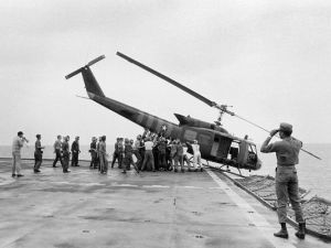 Fall of Vietnam Helicopter